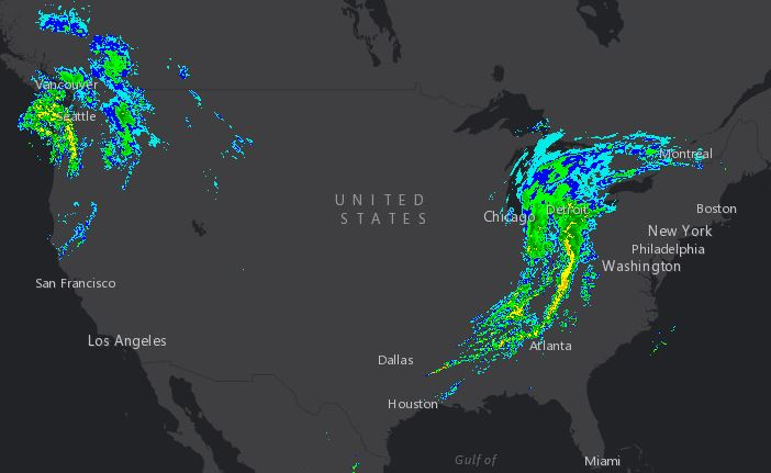 Radar Mosaic - North America