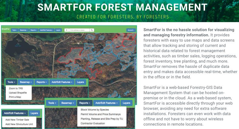 SmartFor Forest Management Web Application