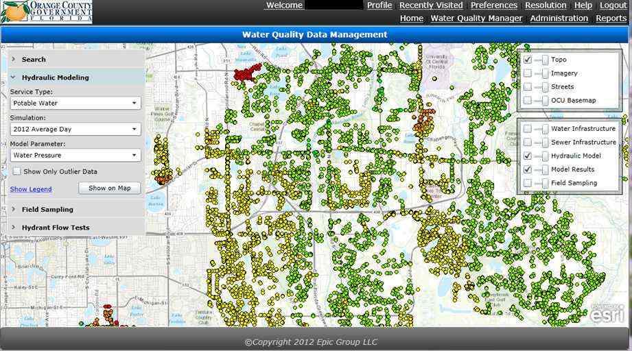 Orange County Utilities Water Quality Dashboard