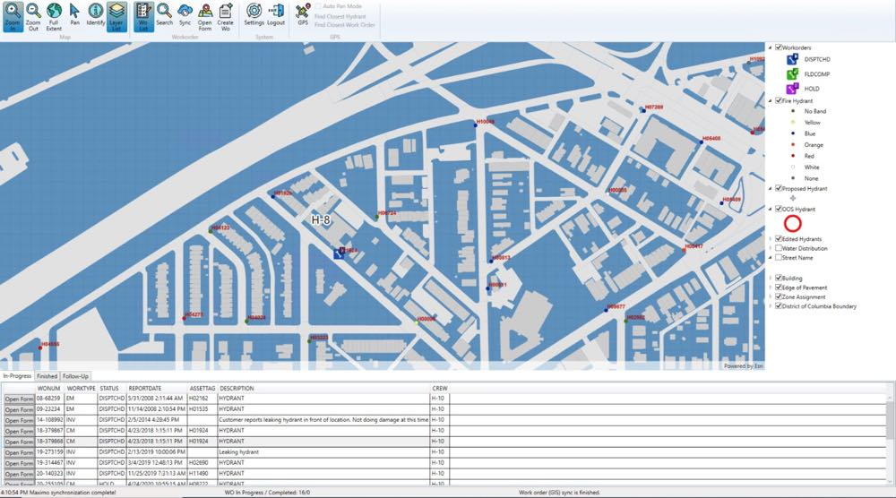 GIS based Hydrant Field Mobility Application