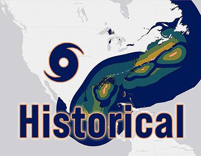 Global historical tropical cyclone and hurricane natural hazards data