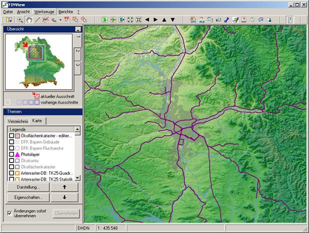 FIN-View: GIS-Software zum Fachdatenmanagement