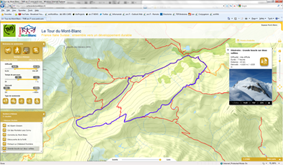 Web and Smartphone GIS solutions to promote trekking around the Mont-Blanc