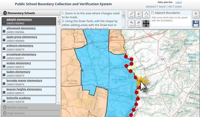 School District Demographics System (SDDS) - School Boundaries Geodatabase