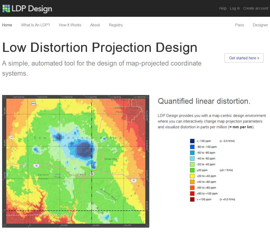 Low Distortion Projection (LDP) Design