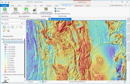 Geosoft Add-in for ArcGIS Pro