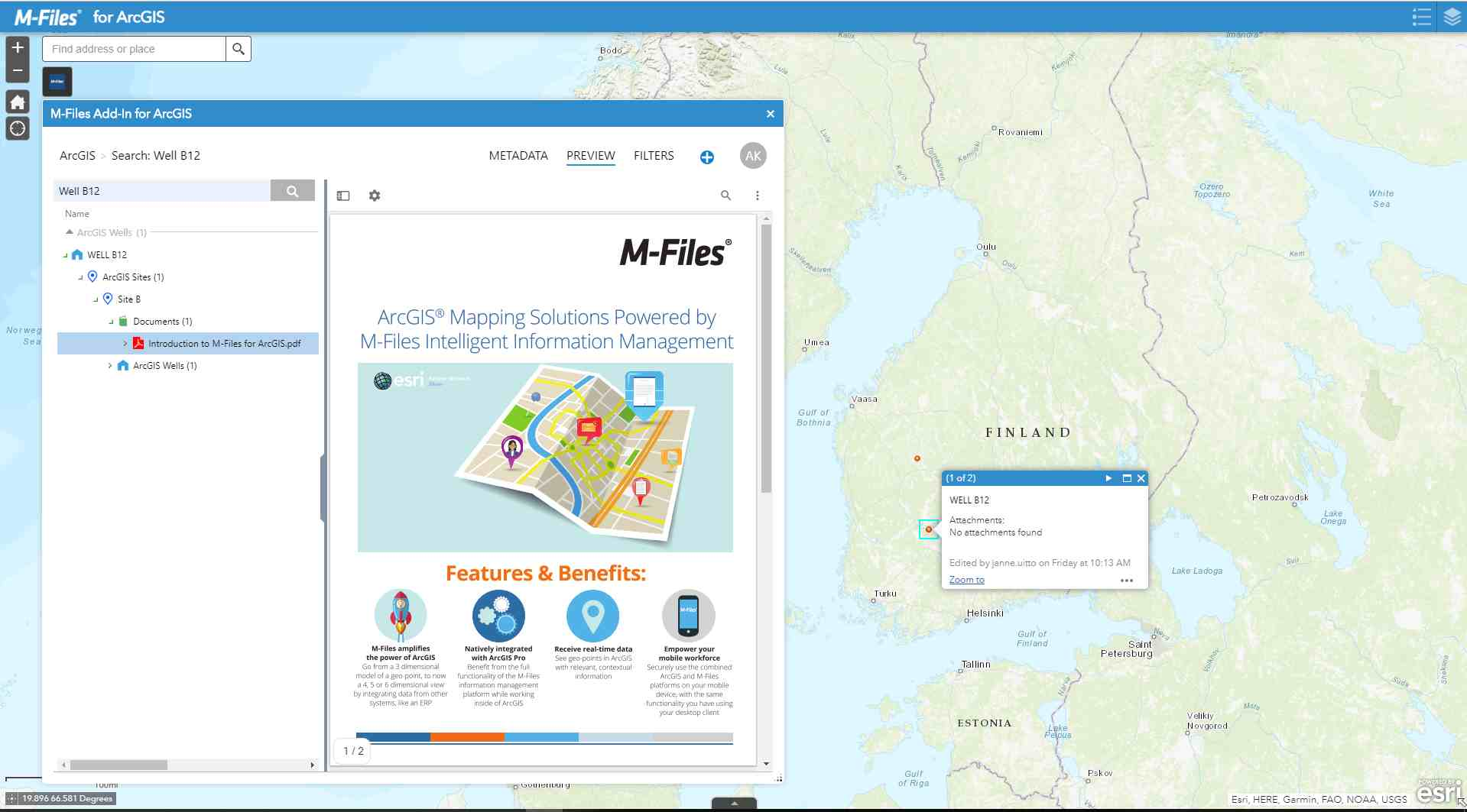 M-Files for ArcGIS